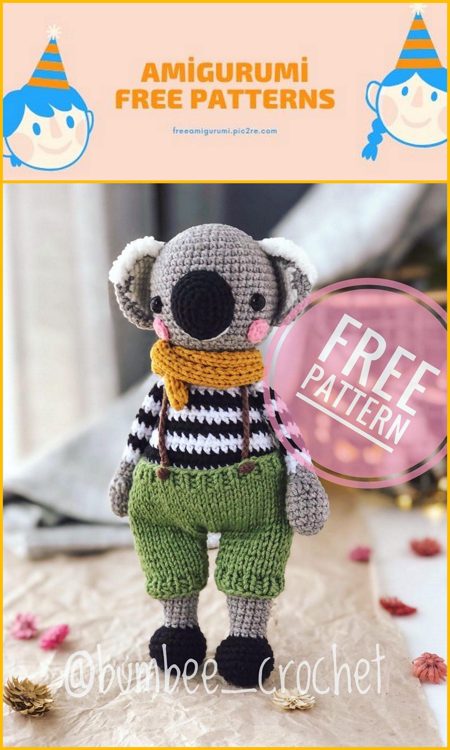Koala amigurumi crochet pattern : PlanetJune Shop, cute and ... | 2560x1536