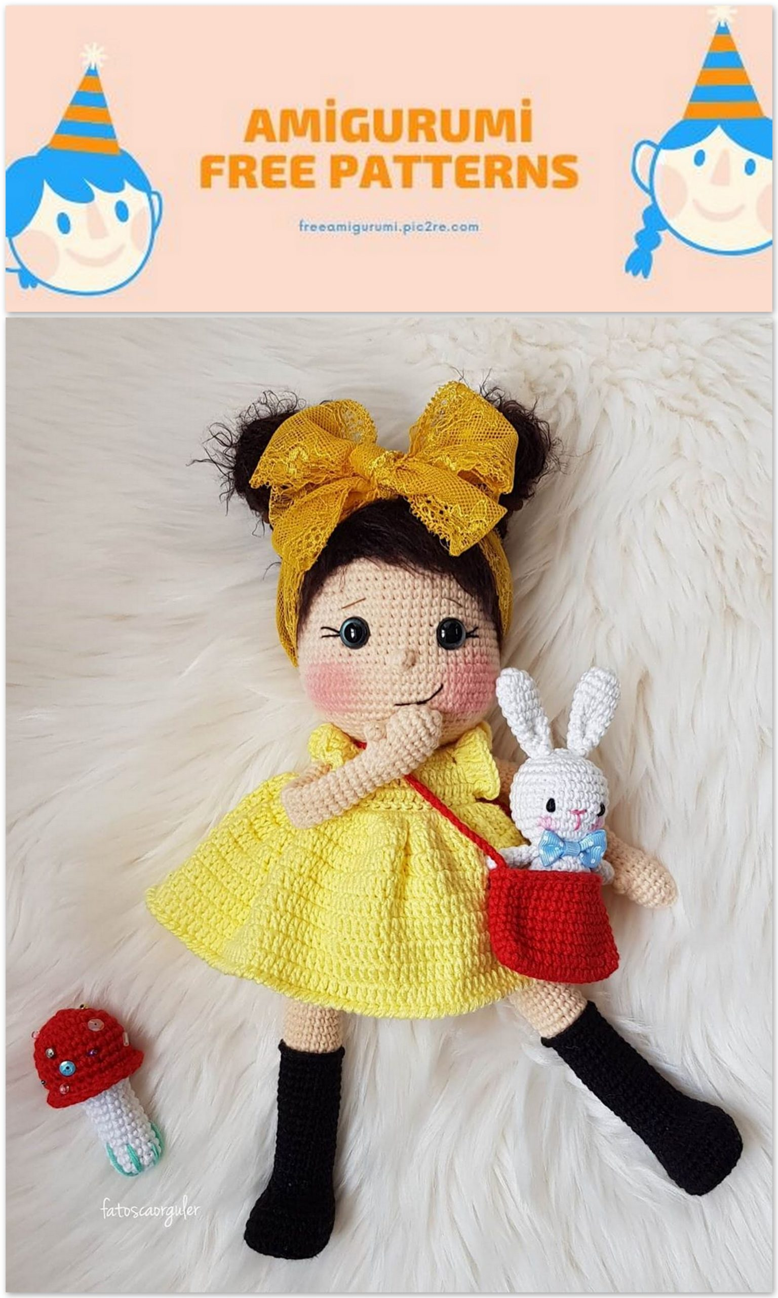 Mini Mimi CAL (Part 3: Arms and Legs) Doll Base Amigurumi Crochet ... | 2560x1536