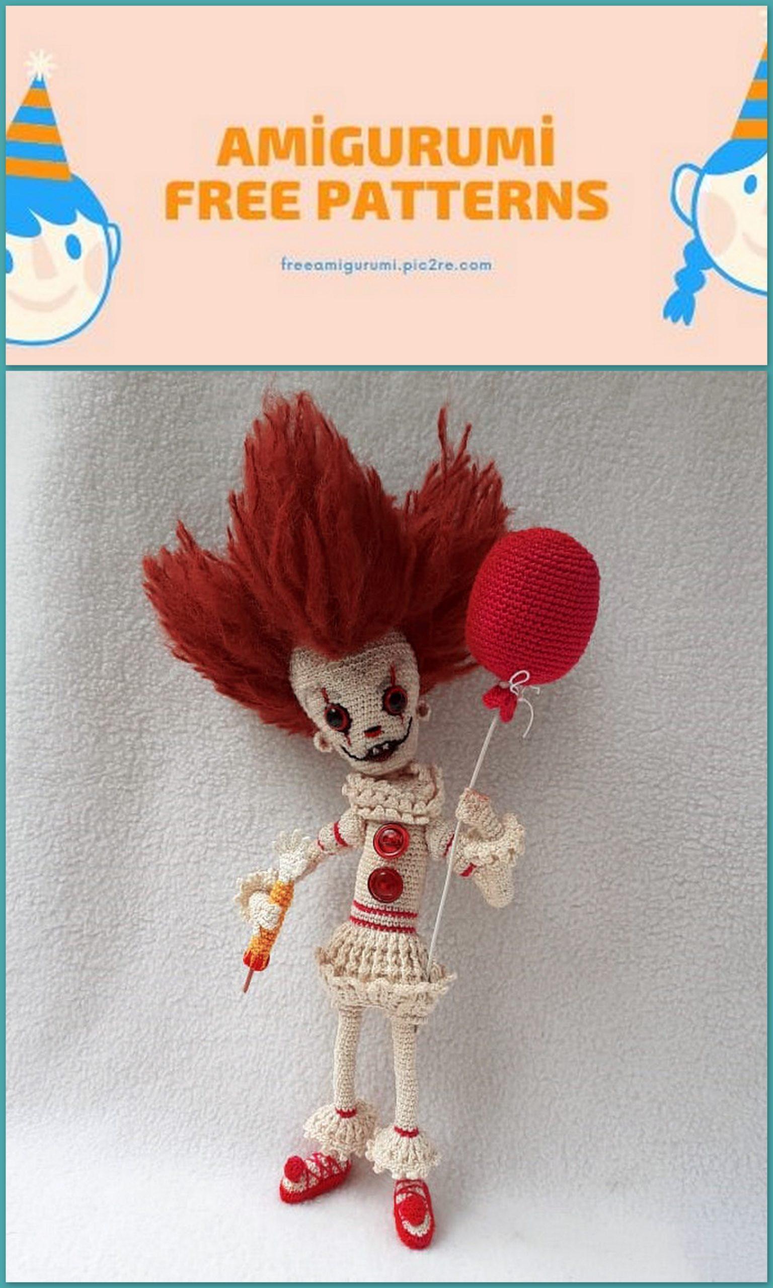 Ravelry: Clown Amigurumi pattern by Mary Smith | 2560x1536