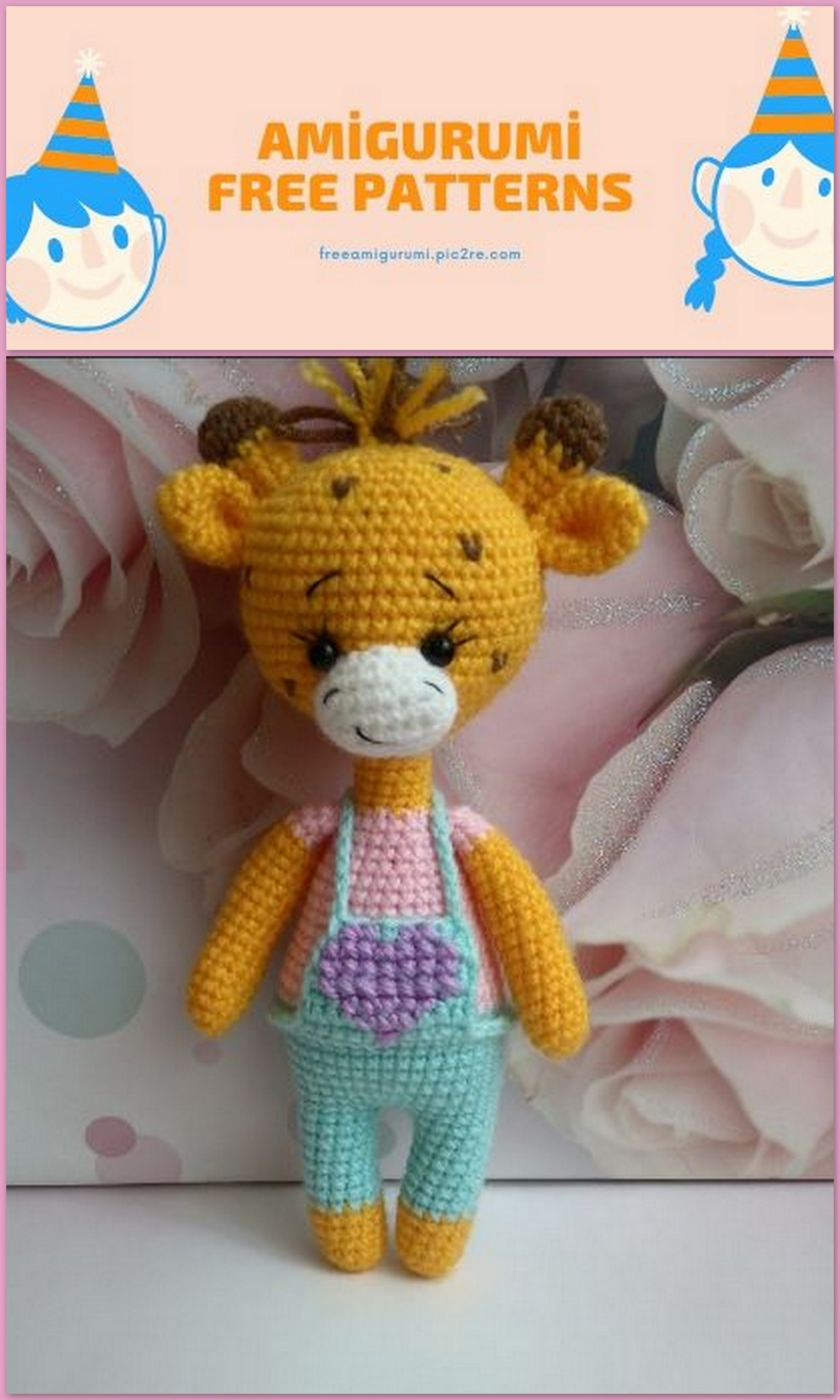 Sleeping Giraffe Amigurumi free crochet pattern - Amigu World | 2560x1536